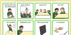Classroom Visual Aid Cards