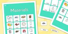 Materials Vocabulary Poster