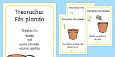 How to Grow a Plant Posters Gaeilge