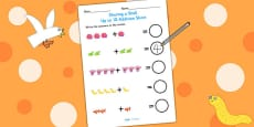 Up to 10 Addition Sheet to Support Teaching on Sharing a Shell