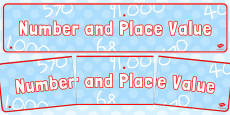 Number and Place Value Display Banner