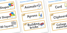 Puma Themed Editable Classroom Resource Labels