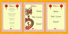 Australia - Chinese Restaurant Menus