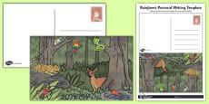 Rainforest Postcard Writing Template