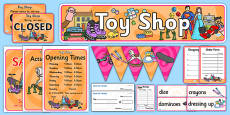 Toy Shop Role Play Pack