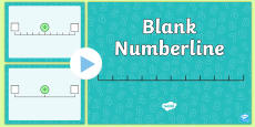 Blank Number Line SMARTBoard Activity