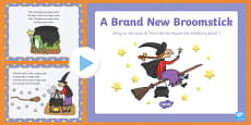 A Brand New Broomstick Song PowerPoint to Support Teaching on Room on the Broom