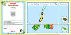 EYFS Playdough Recipe and Mat Pack to Support Teaching on The Very Hungry Caterpillar