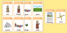 Saint Brigid's Cloak Vocabulary Flashcards