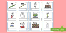 EAL Everyday Objects at School Editable Cards English/Afrikaans