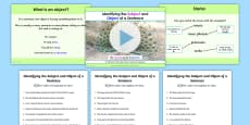 Identifying the Subject and Object of a Sentence Lesson Teaching Pack