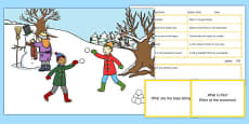 Snowy Day Scene Blanks Level 1 Questions