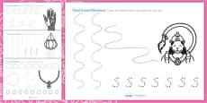 Diwali Pencil Formation Activity Sheet
