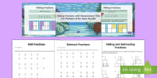 * NEW * Adding and Subtracting Fractions Resource Pack