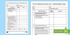 * NEW * EY ELG & Working Towards Level 1 Guided Reading Tracker