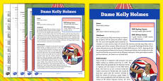 Great British Olympians: Dame Kelly Holmes Differentiated Reading Comprehension Activity