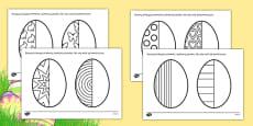 Easter Egg Symmetry Sheets Polish