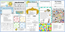 KS1 Summer Holiday Homework Pack