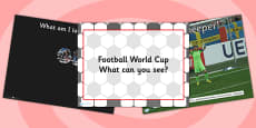 Football World Cup What Can You See PowerPoint