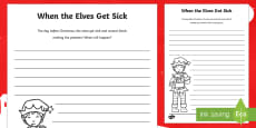 When the Elves Get Sick Writing Activity Sheet