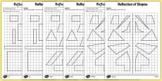 Reflection of Shapes Activity Sheet Pack