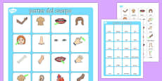 My Body Vocabulary Matching Mat Spanish