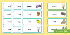 Five Senses Word Cards