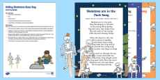 Hiding Skeletons Busy Bag Resource Pack for Parents to Support Teaching on Funny Bones