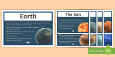 Solar System Facts Display Posters