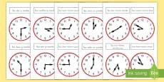 Pack de recursos: Relojes analógicos