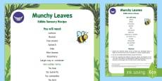 Munchy Leaves Edible Sensory Recipe