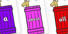 100 High Frequency Words on Giraffes (Crate) to Support Teaching on Dear Zoo