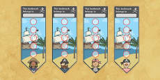 Pirate Sticker Reward Bookmarks (15mm)