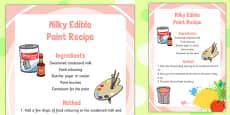 Milky Edible Paint Recipe