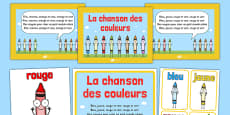 La chanson des couleurs Nursery Rhyme French