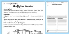 Firefighter Wanted Activity Sheet