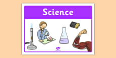 Science Classroom Area Sign