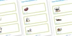 Editable Drawer Peg Name Labels to Support Teaching on Jasper's Beanstalk