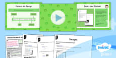 PlanIt - Computing Year 5 - Internet Research and Webpage Design Lesson 4: Images Lesson Pack