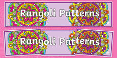 Rangoli Patterns Display Banner