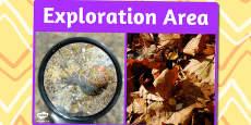 Exploration Area Photo Sign