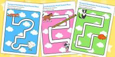 Pencil Control Path Worksheets to Support Teaching on Farmyard Hullabaloo