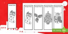 Świąteczne zakładki do książki Kolorowanka antystresowa