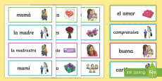 Mother's Day Word Cards -  Spanish