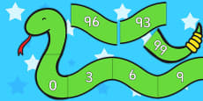 Counting in 3s Number Snake