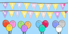 Balloon Themed Birthday Display Pack Romanian Translation
