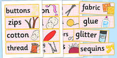 Haberdashery Role Play Labels