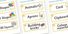 Orange Themed Editable Classroom Resource Labels
