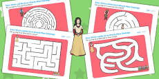 Snow White and the Seven Dwarfs Differentiated Maze Activity Sheet Pack