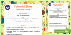 Colourful Slime Edible Sensory Recipe
